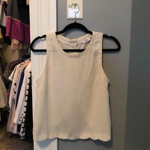 Tobi Scalloped Cream Top